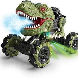 Радиоуправляемые игрушки - Радиоуправляемая зеленая машина-динозавр T-rex, 0