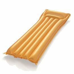 Аксессуары для плавания - Матрас для плавания 183х69 см Золото для взрослых Bestway. , 0