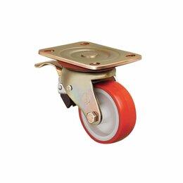 Оборудование для транспортировки - Колесо большегрузное полиуретановое с тормозом ED01 ZBR, 0