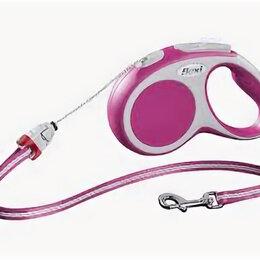 Поводки  - FLEXI рулетка VARIO S (до 12 кг) 5 м трос розовая , 0