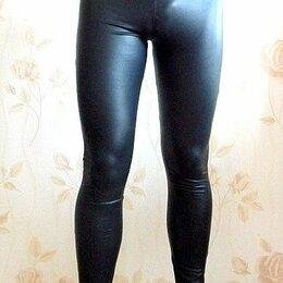 Спортивные костюмы - Легинсы лосины тайтся под кожу черные, 0