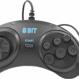 Аксессуары - Джойстик 8bit (форма Sega) 9р узкий разъем, 0
