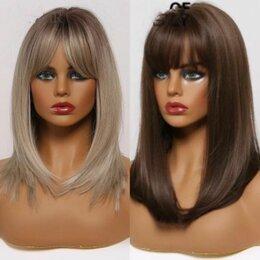 Аксессуары для волос - Парик женский удлиненное каре с челкой, 0