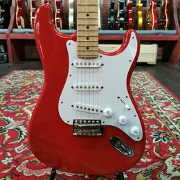 Электрогитары и бас-гитары - Электрогитара Coolz Strat ZST-M10R SSS Crimson Japan 2010s, 0