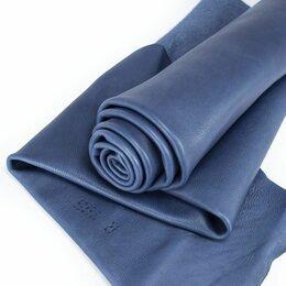 Рукоделие, поделки и сопутствующие товары - Кожа телёнка цвет серо синий, 0