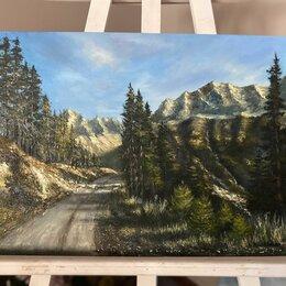 Дизайн, изготовление и реставрация товаров - Картина маслом импрессионизм Мое утро горный пейзаж на заказ, 0