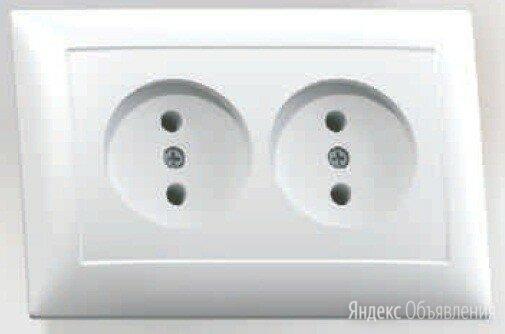Кунцево-Электро СЕЛЕНА розетка СУ 2 мест. бел. АБС-пластик РС16-371 по цене 94₽ - Продукты, фото 0