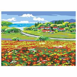 Рисование - Картина по номерам маковое поле остров сокровищ, 0