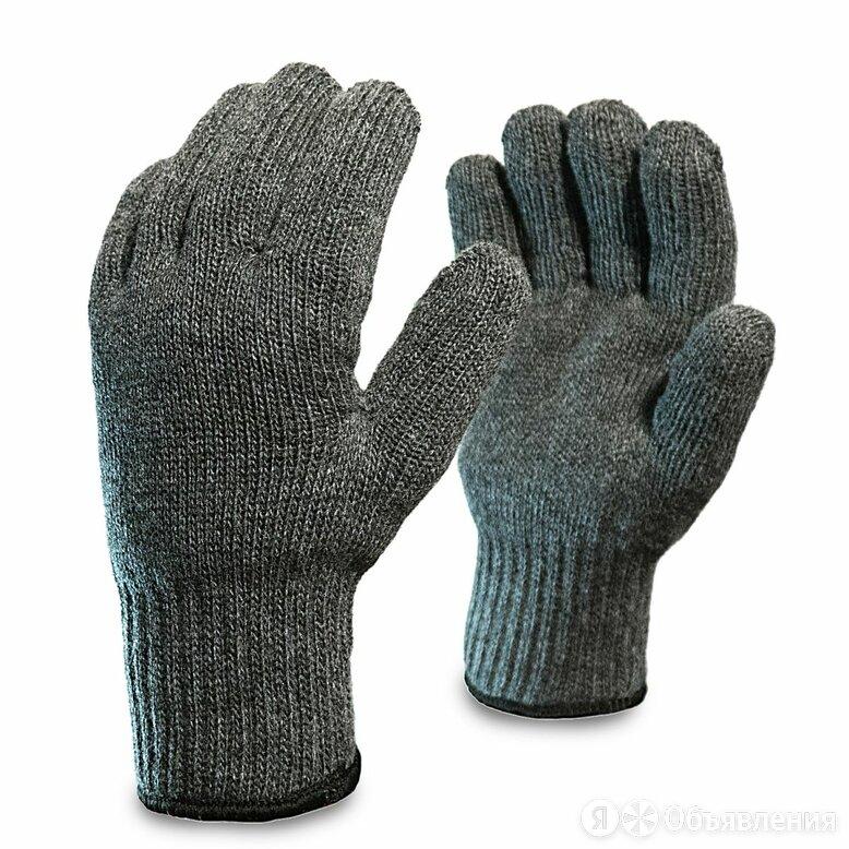 Перчатки трикотажные полушерстяные Аляска двойные серые по цене 63₽ - Средства индивидуальной защиты, фото 0