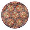 Ляган круглый Риштанская Керамика, 41см, кара калам, красный, микс по цене 2227₽ - Посуда, фото 2