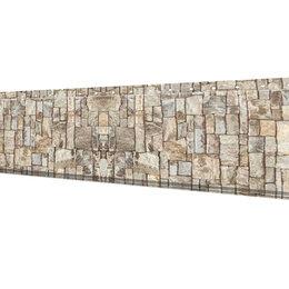 Стеновые панели - Линеарная потолочно-стеновая панель ГЛАДКАЯ Камень Серый Printech Корея, 0