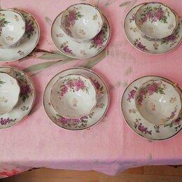 Посуда - Чайный сервиз сирень дулево 1956г. , 0