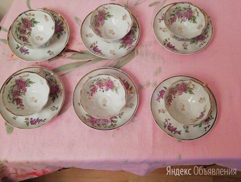 Чайный сервиз сирень дулево 1956г.  по цене 55000₽ - Посуда, фото 0