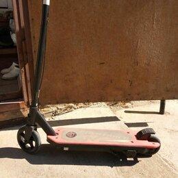 Самокаты - электросамокат детский electric scooter NOVATRACK в хорошем состоянии, 0