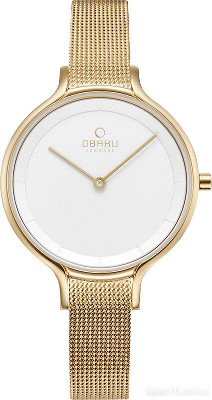 Наручные часы Obaku V228LXGIMG по цене 5990₽ - Умные часы и браслеты, фото 0