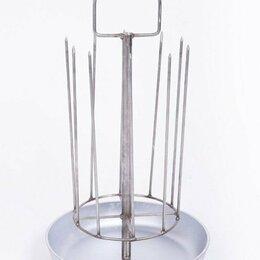 Аксессуары для грилей и мангалов - Шашлычница на 10 шампуров с алюминиевой сковородой, 0