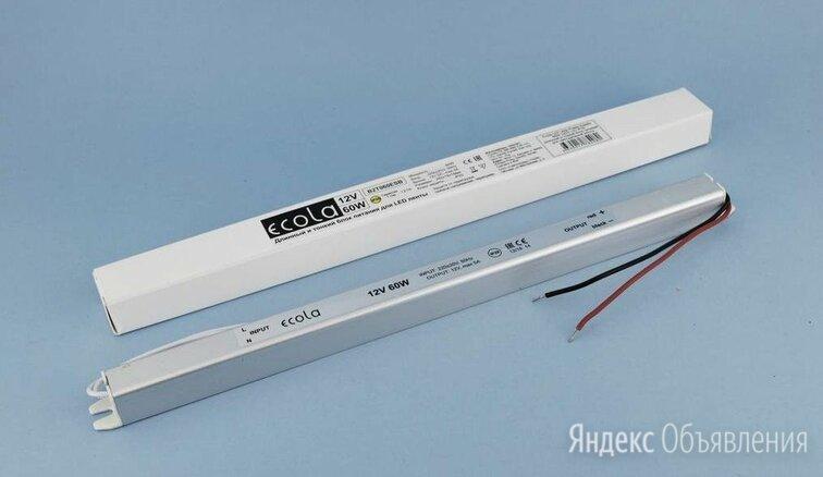 Блок питания для светодиодной ленты 12В 60Вт IP20 по цене 490₽ - Светодиодные ленты, фото 0