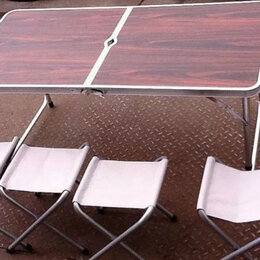 Походная мебель - стол и 4 стула для рыбалки, пикника, 0