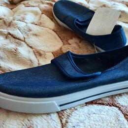 Кроссовки и кеды - Джинсовые кроссовки на липучке 34.5, 0