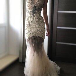 Платья - Вечернее платье в пол фасон «рыбка» размер S, 0