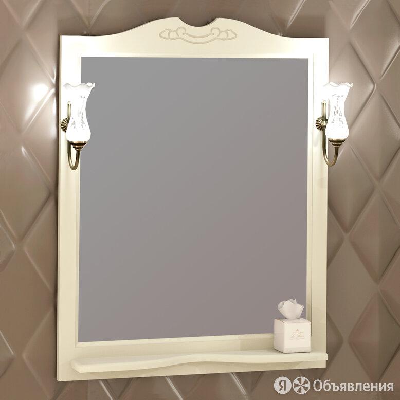 Зеркало Opadiris Клио/Тибет 85 слоновая кость по цене 8540₽ - Полки, шкафчики, этажерки, фото 0
