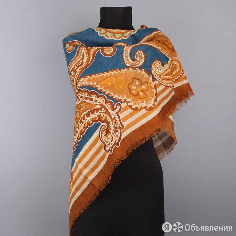 Женский большой шерстяной платок с терракотовой каймой Coveri Collection 73687 по цене 4500₽ - Шарфы, платки и воротники, фото 0