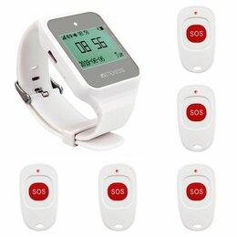 Сопутствующие товары - Кнопки вызова персонала и часы пейджер. Система из часов и 5-ти кнопок SWB06-2., 0