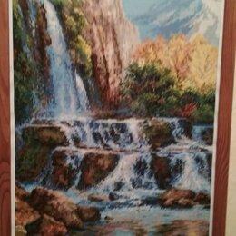 """Рукоделие, поделки и сопутствующие товары - Набор для вышивания крестом riolis """"пейзаж с водопадом"""", 40 х 60 см, 0"""