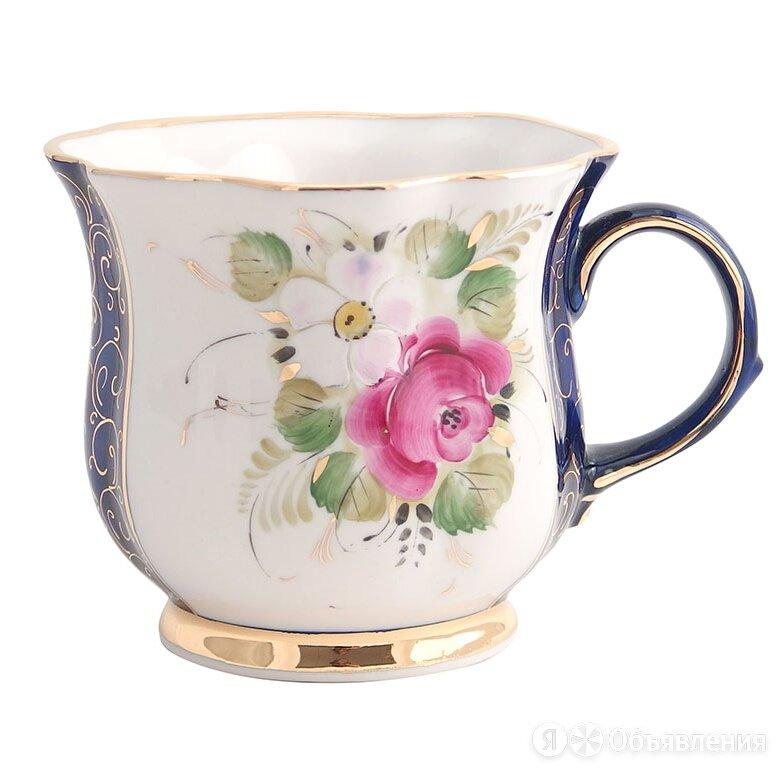 Чайные пары, чашки Гжельский фарфоровый завод Бокал Улыбка (надглазурная росп... по цене 2510₽ - Бокалы и стаканы, фото 0