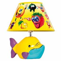 Настольные лампы и светильники - Детская настольная лампа D1-20 Yellow, 0