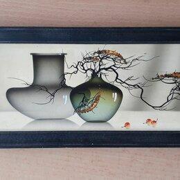 Картины, постеры, гобелены, панно - натюрморт  авторская картина в японском стиле 30 х 10 см , 0