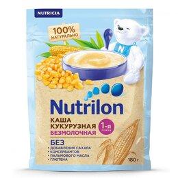 Детское питание - NUTRILON Каша Кукурузная {с 6 мес} без Молока Doy Pack 180г., 0