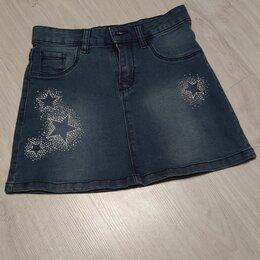 Юбки - Джинсовая юбка для девочки, р 140, 0
