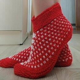Домашняя обувь - Вязаные тапочки для взрослых, 0