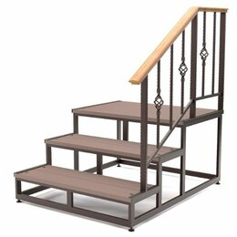 Лестницы и элементы лестниц - Лестницы из металла уличные и для дома , 0