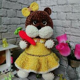 Мягкие игрушки - Хомячок девочка с морковкой 30 см, 0