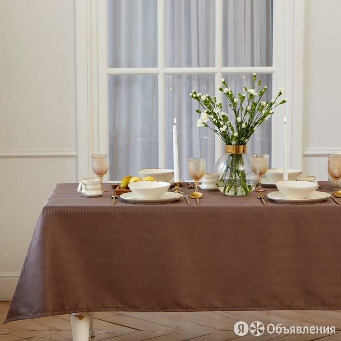 Скатерть 'Этель' Shine 150*300 +/-3см, цв.кофейный, пл. 192 г/м2, хл с ВГМО по цене 2195₽ - Скатерти и салфетки, фото 0