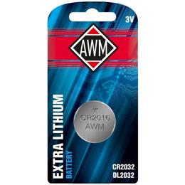 Батарейки - Литиевая батарейка AWM CR2032 3V блистер (1шт), 0