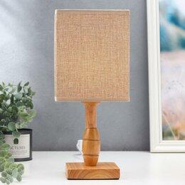 Фильтры для вытяжек - Настольная лампа 'Ариадна', 1х40Вт Е27, цвет бежевый, 0