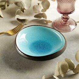 Блюда, салатники и соусники - Салатник 'Таллула', 16x4 см, цвет голубой, 0