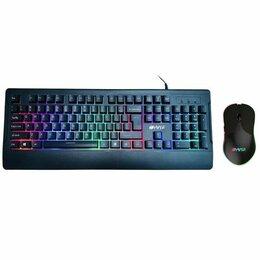 Комплекты клавиатур и мышей - Игровой компл. Hiper T3 Tribute клавиатура + мышь, 0