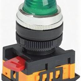 Радиодетали и электронные компоненты - Лампа AL-22 сигнальная d22мм зеленый неон/240В цилиндр ИЭК, 0