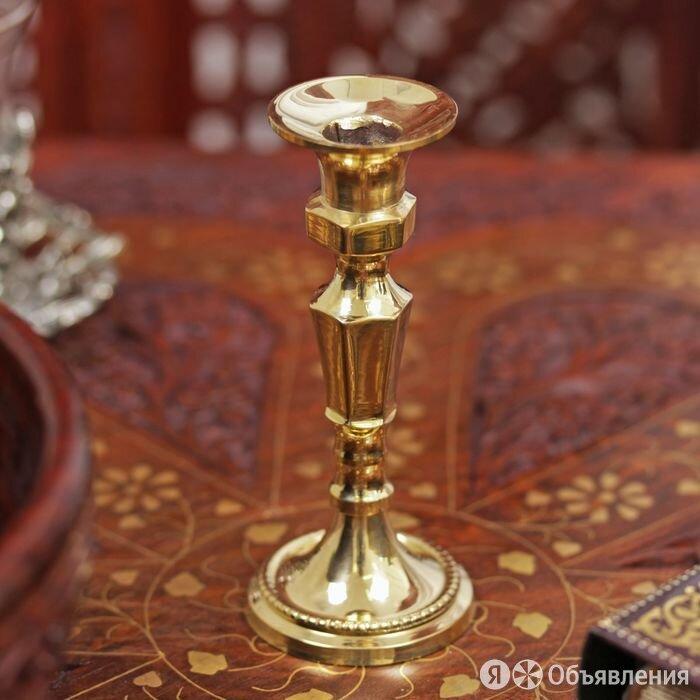 Подсвечник латунь на 1 свечу 'Винтаж' 10,5х3,5х4,5 см по цене 671₽ - Мебель для кухни, фото 0
