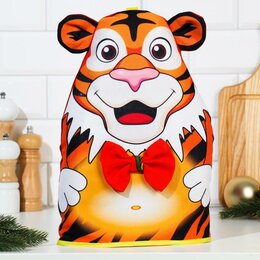 """Крышки и колпаки - Грелка """"Нарядный тигр"""", 33х25 см, 0"""