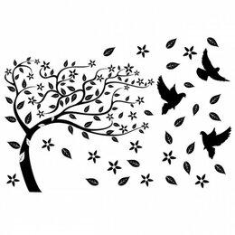 Интерьерные наклейки - Наклейка декоративная Декоретто Дерево на ветру TK 6007, 0
