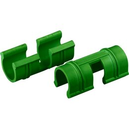 Парники и дуги - зажимы универсальные  для крепления пленки к каркасу парника d12мм, 20 шт, зе..., 0