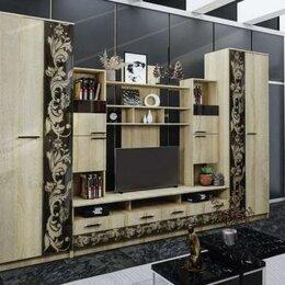 Шкафы, стенки, гарнитуры - Гостиная Багира. Стекло Каштан, 0