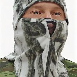 Головные уборы - Шапка-маска флис фотокамуфляж белый Лес Буран- БР-шапмфб-7, 0