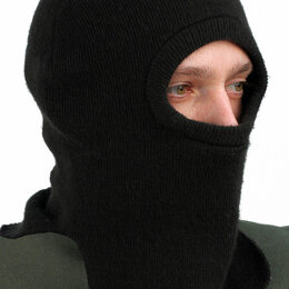 Головные уборы - Балаклава (подшлемник, маска) трикотажная черная 11272, 0