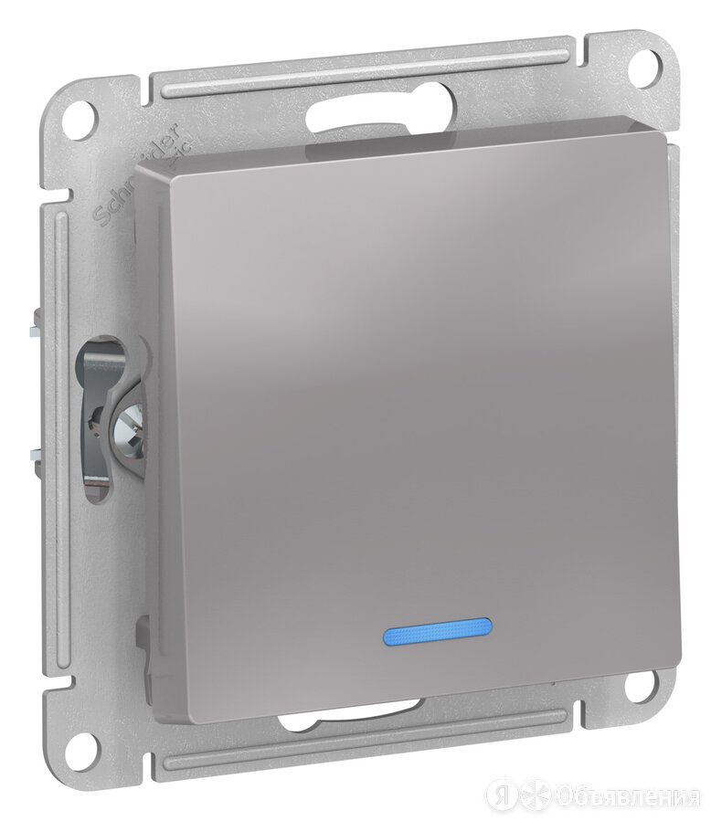 ATLASDESIGN 1-кл выключатель с подсветкой, 10АХ, механизм, АЛЮМИНИЙ ATN000313 по цене 288₽ - Электроустановочные изделия, фото 0